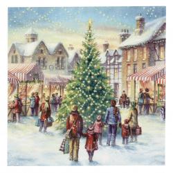 Салфетка ti-flair 33x33 см трипластова Christmas Market -1 брой