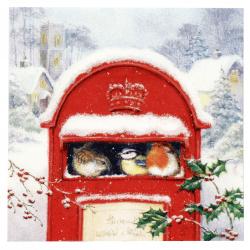 Șervețel ti-flair 33x33 cm cutie poștala roșie cu trei straturi -1 buc