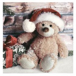 Салфетка ti-flair 33x33 см трипластова Christmas Teddy with Present -1 брой