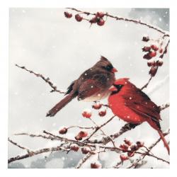 Салфетка ti-flair 33x33 см трипластова Cardinal Birds on snowy Branch -1 брой