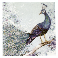 Салфетка ti-flair 33x33 см трипластова Peacock sitting on Branch -1 брой