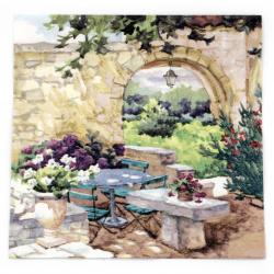 Салфетка ti-flair 33x33 см трипластова Patio Morning in Provence -1 брой