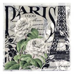 Салфетка ti-flair 33x33 см трипластова Paris 1900 -1 брой