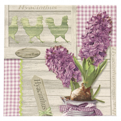Салфетка ti-flair 33x33 см трипластова Lilac Hyacinthus -1 брой