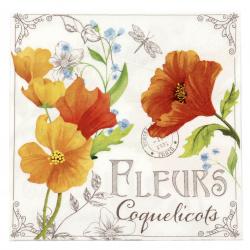 Șervețel ti-flair 33x33 cm trei straturi Fleurs de Coquelicots -1 buc