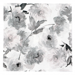 Салфетка ti-flair 33x33 см трипластова Summer Roses anthrazit -1 брой