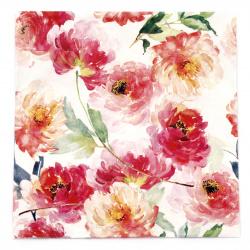 Салфетка ti-flair 33x33 см трипластова Summer Roses white -1 брой