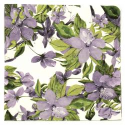 Салфетка ti-flair 33x33 см трипластова Flowering Clematis lilac -1 брой
