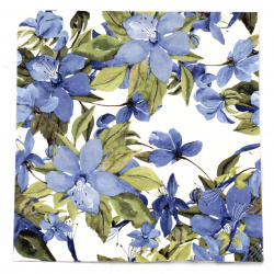 Салфетка ti-flair 33x33 см трипластова Flowering Clematis blue -1 брой