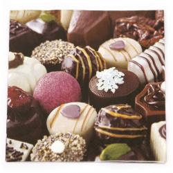 Салфетка за декупаж Ambiente 33x33 см трипластова Luxury Chocolates -1 брой