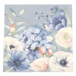 Салфетка за декупаж Ambiente 33x33 см трипластова Blooming Mystery -1 брой