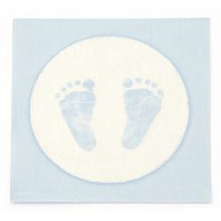 Șervețel decoupage Ambiente 33x33 cm în trei straturi Baby Steps Boy -1 bucată