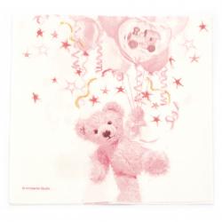 Χαρτοπετσέτα Ambiente 33x33 cm  Teddy Rose -1 τεμαχιο