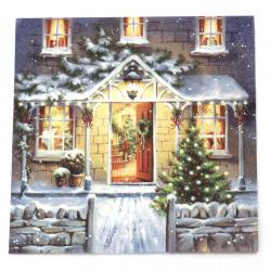 Салфетка ti-flair 33x33 см трипластова  Welcome Home at Christmas  -1 брой