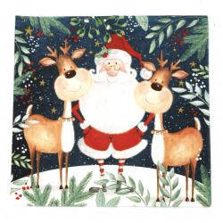 Салфетка ti-flair 33x33 см трипластова  Santa and Funny Reindeers  -1 брой