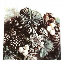 Салфетка ti-flair 33x33 см трипластова  Wreath with Glass Star  -1 брой