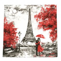 Салфетка ti-flair 33x33 см трипластова  L Amour a Paris  -1 брой