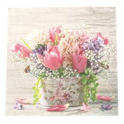 Салфетка ti-flair 33x33 см трипластова  Pastell Spring Flowers  -1 брой