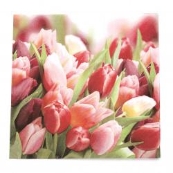 Салфетка ti-flair 33x33 см трипластова  Pink and Violet Tulips  -1 брой