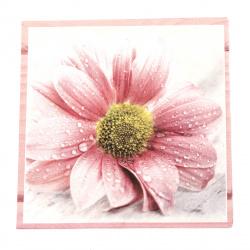 Салфетка ti-flair 33x33 см трипластова  Candy Pink Flowers  -1 брой