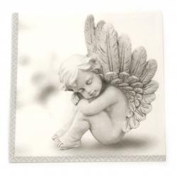 Салфетка ti-flair 33x33 см трипластова  Dreaming Angel grey  -1 брой