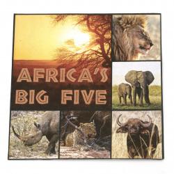 Салфетка ti-flair 33x33 см трипластова  Africas Big Five  -1 брой
