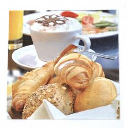 Салфетка ti-flair 33x33 см трипластова  Breakfast Delights  -1 брой