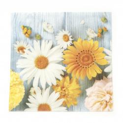 Салфетка ti-flair 33x33 см трипластова  Brillantes Flores de Jardin  -1 брой