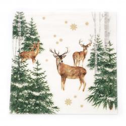 Салфетка ti-flair 33x33 см трипластова  In the Winter Forest  -1 брой