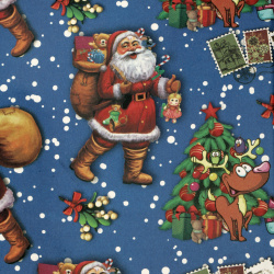 Christmas Wrapping Paper 510x750 mm Santa Claus, Blue