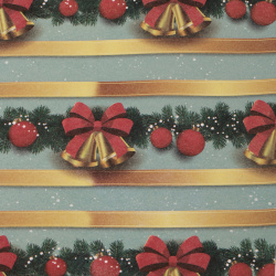 Christmas Wrapping Paper 510x750 mm Christmas garland with bells