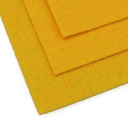 Foaie de pâslă, Artizanat DIY 1 mm A4 20x30 cm culoare galben închis -1 bucată