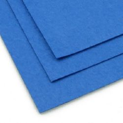Fabric Felt Sheet, DIY Crafts Sewing Decoration 1 mm A4 20x30 cm color blue-1 piece
