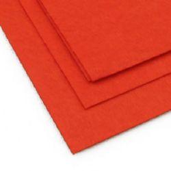 Pâslă 1 mm A4 20x30 cm culoare portocaliu închis -1 bucată