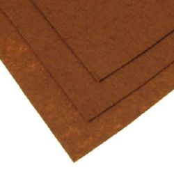 Φύλλο τσόχας 1 mm A4 20x30 cm καφέ ανοιχτό -1 τεμάχιο