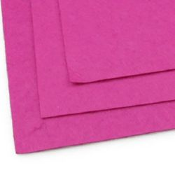 Fabric Felt Sheet, DIY Crafts Sewing Decoration 1mm A4 20x30 cm Cyclamen color -1 pc