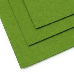 Fabric Felt Sheet, DIY Crafts Sewing Decoration 1 mm A4 20x30 cm color green grassy dark -1 piece