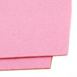 Felt Fabric Sheet, DIY Craftwork Scrapbooking 3 mm A4 20x30 cm color pink -1 pc