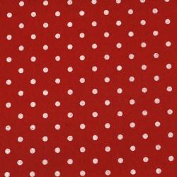 Τσόχα 1 mm 30x30 cm κόκκινο πουά -1 τεμάχιο