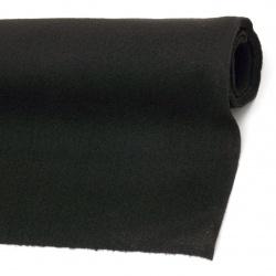 Fabric Felt Sheet, DIY Crafts Sewing Decoration 1.5 mm 45x100 cm color black - 1 piece