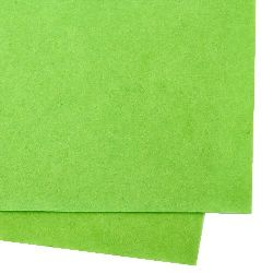 Soft felt Craft Handmade1 mm A4 20x30 cm color green light -1 piece
