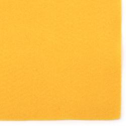 Филц мек 1 мм A4 20x30 см цвят жълт тъмно -1 брой