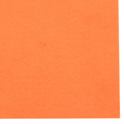 Soft Felt Fabric Sheet DIY Craftwork Decoration 2 mm A4 20x30 cm color orange -1 piece