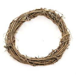 Wooden  wreath for decoration 150 mm