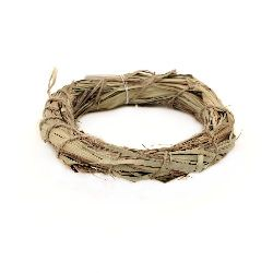 Natural Wooden Wreath, Decorations, Home Decor, Art, Craft, Hobby 120 mm