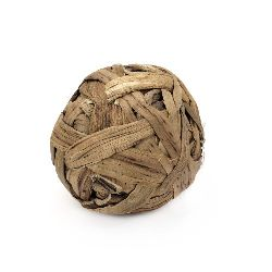 Decoration ball made of natural materials 75 mm