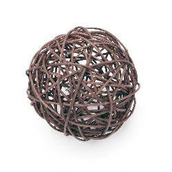 Rattan Ball, Wooden, Decoration, Craft Projects, DIY 100 mm dark purple - 2  pieces