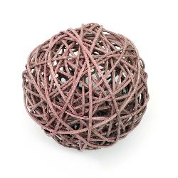 Rattan Ball, Wooden, Decoration, Craft Projects, DIY 100 mm lavender