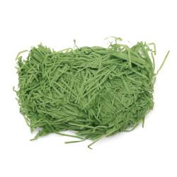 Хартиена трева цвят зелен светъл - 50 грама