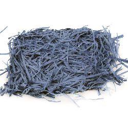 Artificial Paper Grass, Decoration Decoupage DIY color blue - 50 grams
